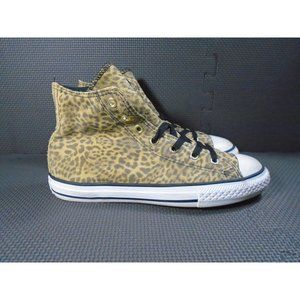Youth Sz 4 Converse CTAS Leopard High Top Sneakers